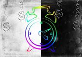 Clock icon illustration — Stock Photo