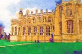 London watercolor illustration — Stock Photo
