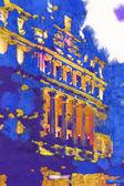 Londýnské akvarel ilustrace — Stock fotografie
