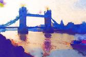 Illustration aquarelle de Londres — Photo