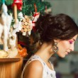 Christmas shopping concept. Emotive portrait of happy beautiful — Stock Photo #60013817