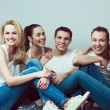 Happy together concept. Group portrait of healthy boys and girls — Stock Photo #61583285