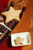 Christmas cookies concept. Creative snack set of cookies with ar — Foto de Stock