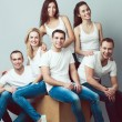 Happy together concept. Group portrait of healthy boys & girls i — Stock Photo #61763647