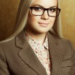 Eyewear concept. Portrait of young beautiful business woman wear — Stock Photo #69958193
