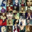 Hipster people concept. Collage (mosaic) of fashionable men, wom — Stock Photo #71035757