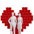 Couple with heart symbol.  Love concept — Stock Photo #60834803