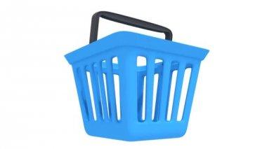 Shopping basket rotate — Stock Video