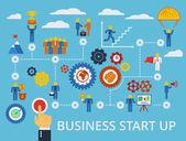 Business start up infographics template. Vector. — Stock Vector