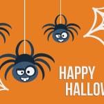 Three hanging spiders. Vector illustration. — Stock Vector #55312461