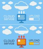 Cloud Service Concept Vector Illustration. — 图库矢量图片