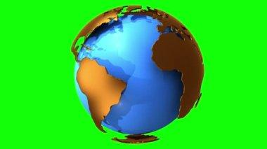 Earth planet globe rotates — Stock Video
