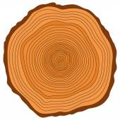 Tree rings. — Stock Vector