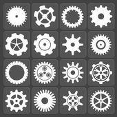 Gears shapes vector set. — Stockvector