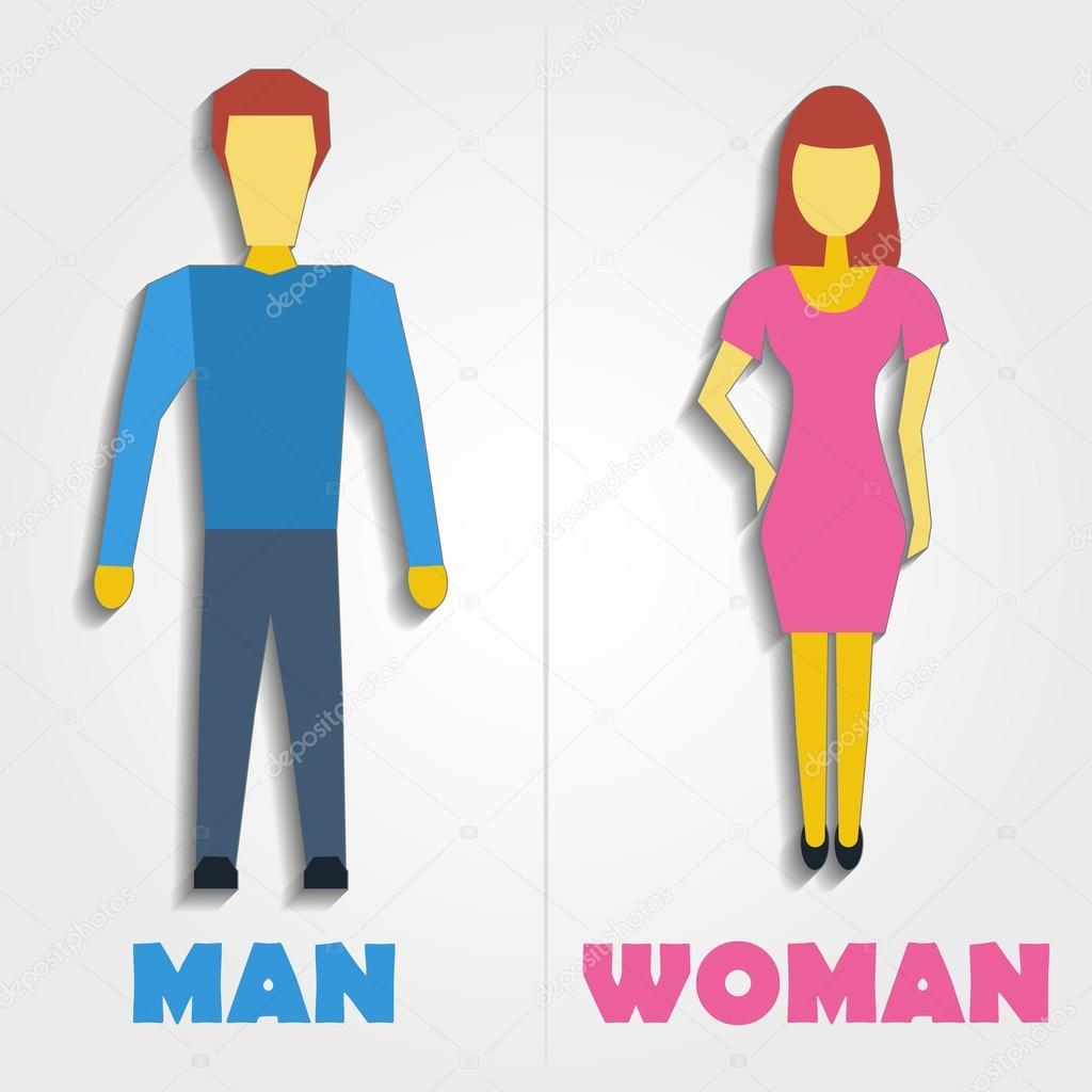 Ícone do símbolo de banheiro masculino e feminino Ilustração vetorial — Veto -> Icone Banheiro Feminino