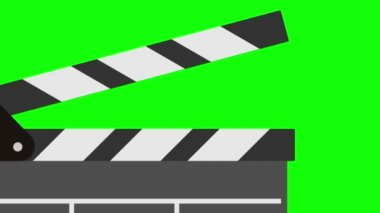 Cinema clapperboard. 2D animation footage — Stock Video