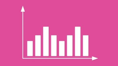 Bar graph with arrows axis. Animation for yours presentation. — Stock Video