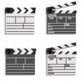 Cinema clapboard vector icons — Stock Vector