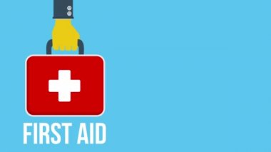 First aid animation — Stock Video