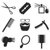 Barber web and mobile icons collections. Vector. — Stock Vector