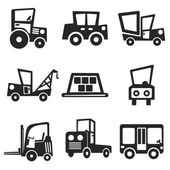 Cars web and mobile icons set. Vector. — Stock Vector