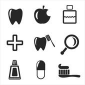 Set of dental web and mobile icons. Vector. — Stock Vector