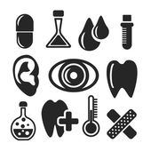 Medical and healthcare web and mobile icons. Vector. — Vector de stock