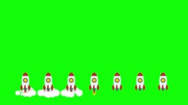 Rocket space ships take off — Stockvideo