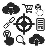 Set of seo web and mobile icons. Vector. — Stock Vector
