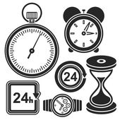 Set of time web and mobile icons. Vector. — Stock Vector