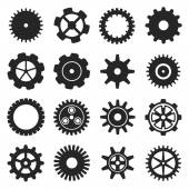 Gears shapes vector set. — Stock Vector