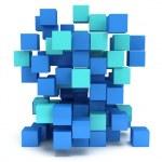 3D Cubes block. Assembling concept. — Stock Photo #66157066