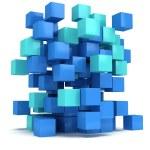 3D Cubes block. Assembling concept. — Stock Photo #66157082