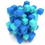 3D Cubes block. Assembling concept. — Stock Photo #66157130