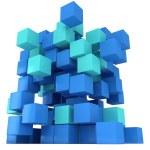 3D Cubes block. Assembling concept. — Stock Photo #66157150