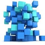 3D Cubes block. Assembling concept. — Stock Photo #66157174