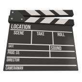 Cinema clapperboard 3D — Stock Photo