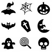 Halloween web and mobile logo icons collection — Stock Vector