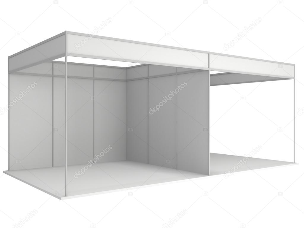Exhibition Booth Blank : Trade show booth box d white and blank — stock photo