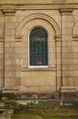 Small arched window of an early nineteenth century Georgian mansion — Stock Photo