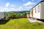 Static caravan holiday home — Stock Photo