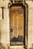 Victorian Church door and slit window  — Stock Photo