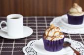 Caramel Latte Cupcake — Stock Photo