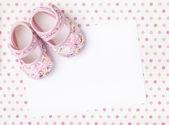 New baby announcement — Stock Photo