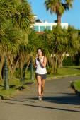 Female runner training ourdoor in park — Stock Photo