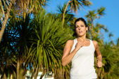 Woman running for healthy lifestyle — Foto Stock