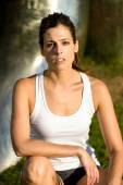 Sporty fitness woman portrait — Stock Photo
