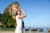 Woman at Krabi beach in Thailand — Stock Photo