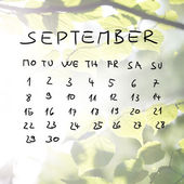 Hand-drawn calendar for the month of September — Zdjęcie stockowe