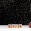 New Year 2015 background with falling snow — Stock Photo #53291115